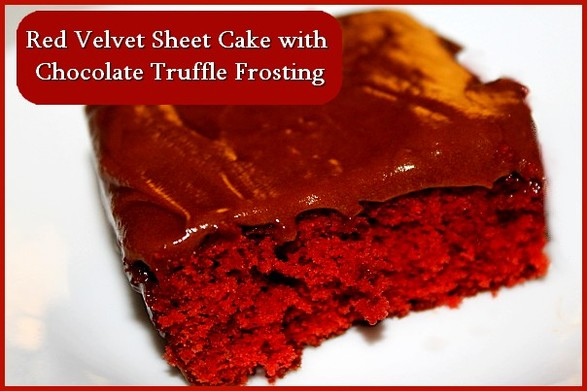 Red Velvet Cake with Chocolate Truffle Frosting