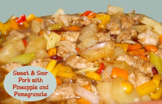 Sweet and Sour Pork with Pineapple and Pomegranate