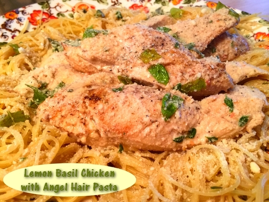Lemon Basil Chicken with Pasta