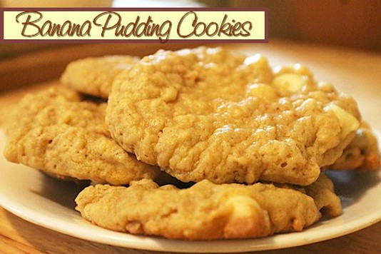 Banana Pudding Cookies - Mom's Kitchen Pantry