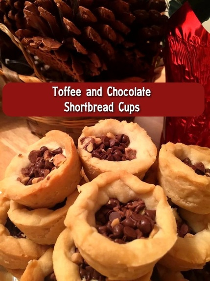 Toffee and Chocolate Shortbread Cups