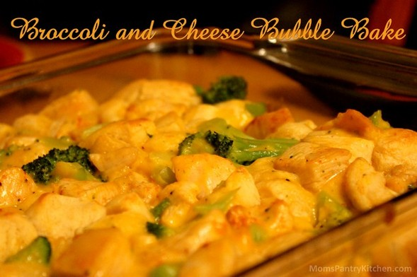 Broccoli and Cheese Bubble Bake