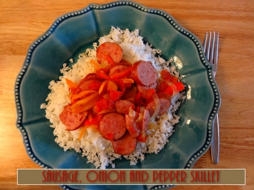 Sausage, Onion and Pepper Skillet