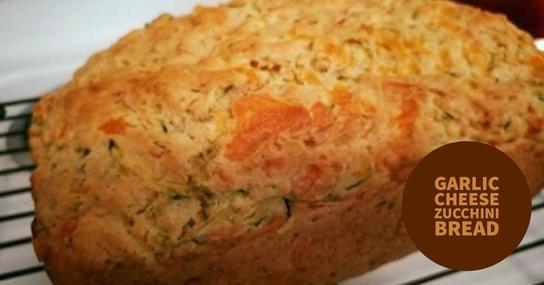 Garlic Cheese Zucchini Bread