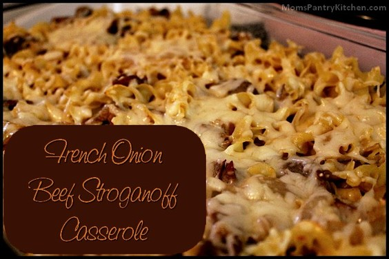 French Onion Beef Stroganoff Casserole