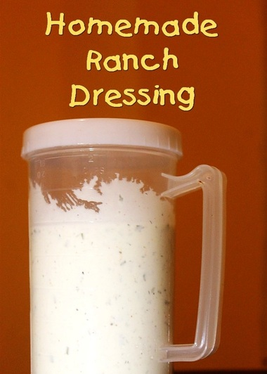Homemade Ranch Buttermilk Dressing