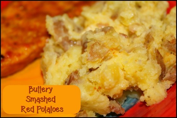 Buttery Smashed Red Potatoes