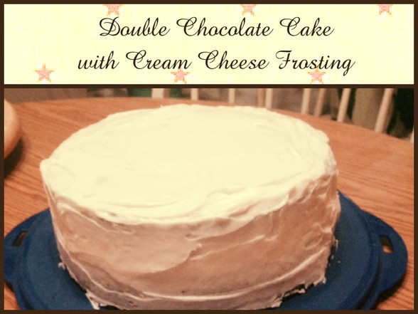 Double Chocolate Cake with Cream Cheese Frosting