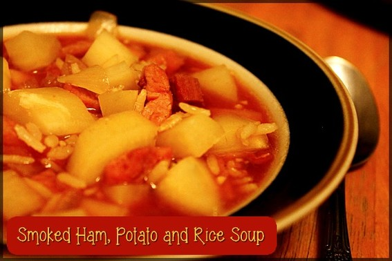 Smoked Ham, Potato and Rice Soup