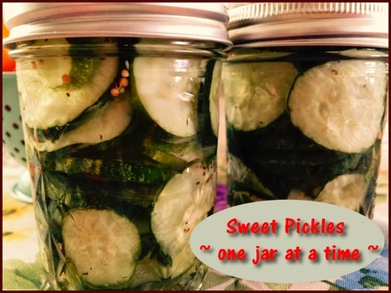 Sweet Pickles - One Jar at a Time