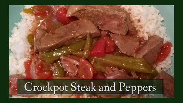 Crockpot Peppers and Steak